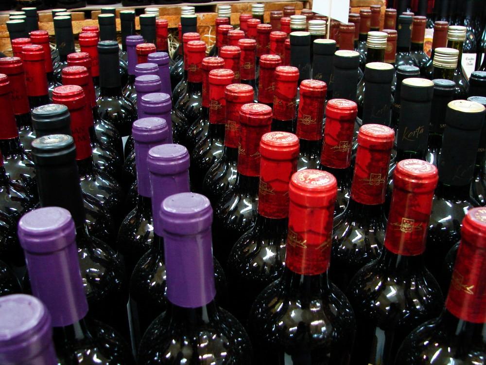 Prodej vína - supermarket